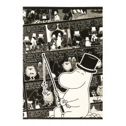 Moomin Notebook Comics Moominpappa A5 40 Squared Pages 7x7 mm