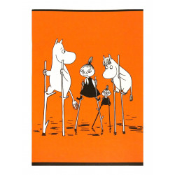Moomin Notebook Orange A5 40 Squared Pages 7x7 mm