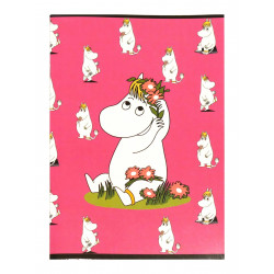 Moomin Notebook Snorkmaiden Pink A5 40 Squared Pages 7x7 mm