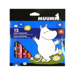 Moomin Jumbo Felt Pens 12 pcs