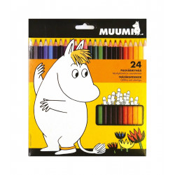 Moomin Colored Pencils Nontoxic 24 pcs