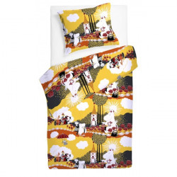Moomin Duvet Cover Pillowcase 120 x 160 cm Roses