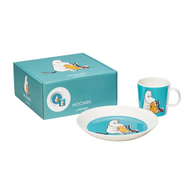 Moomin Set Gift Box Moomintroll Plate and Mug