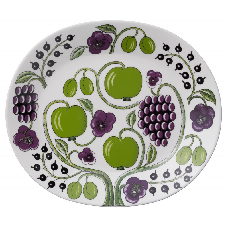 Kaipiainen Paratiisi Purple Oval Platter 36 cm Arabia