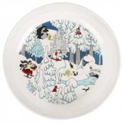 Moomin Winterland Deep Plate 17 cm Melamine