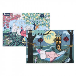 Moomin Puzzle Set of 2 Hammock 20 pcs Garden Party 40 pcs 30 x 21 cm
