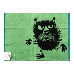 Moomin Terry Towel Stinky Green 50 x 70 cm Finlayson