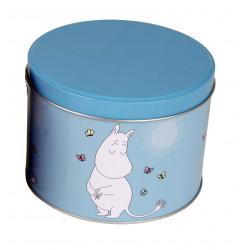 Moomin Tin Can Round Moomin Troll Turquoise