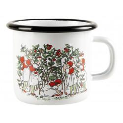 Elsa Beskow Enamel Mug Lingonberries 0.25 L Muurla