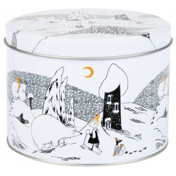 Moomin Polar Bear Round Tin Box Size M