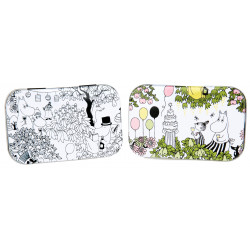 Moomin Garden Small Tin Box 2 pcs