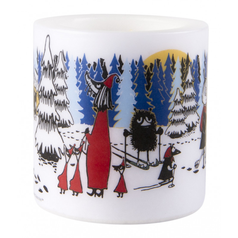 Moomin Candle Winter Forest 8 cm