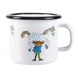 Pippi Longstocking Enamel Mug Pippi And The Horse 0.25 L