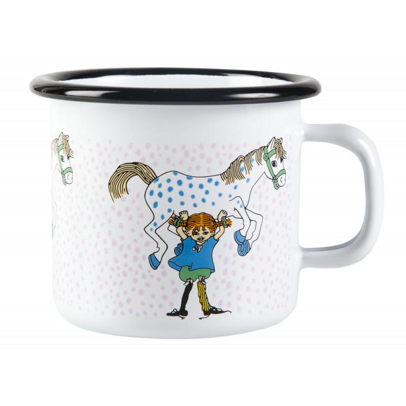 Pippi Longstocking Enamel Mug Pippi And The Horse 0.25 L