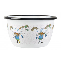 Pippi Longstocking Enamel Bowl Pippi And The Horse 0.6 L