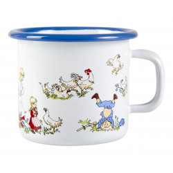 Emil of Longbacka Enamel Mug The Family 0.25 L
