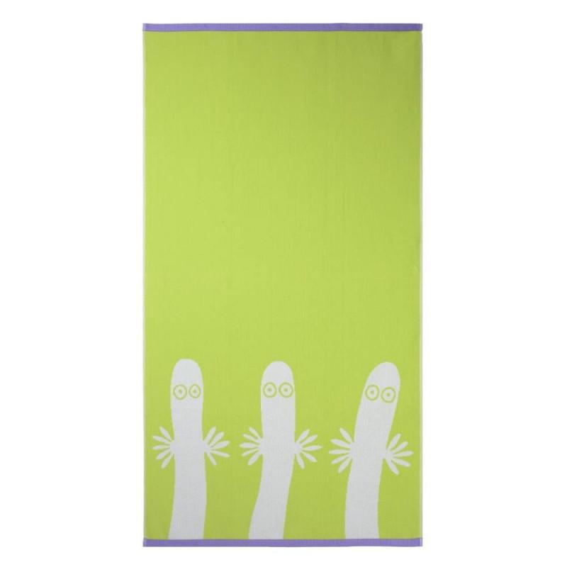 Moomin Bath Towel Hattifatteners Lime 70 x 140 cm Finlayson