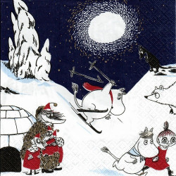 Moomin Paper Napkins Winter Land 20 pcs 24 cm