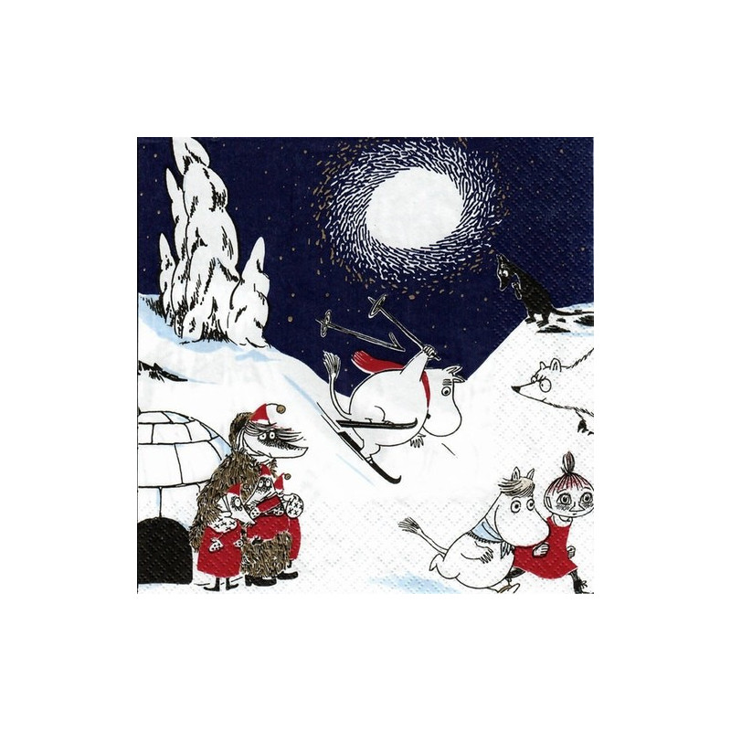 Moomin Paper Napkins Winter Land 20 pcs 33 cm