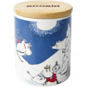 Moomin Winter Land Scented Candle in Ceramic jar with Wooden Lid 30-35 h
