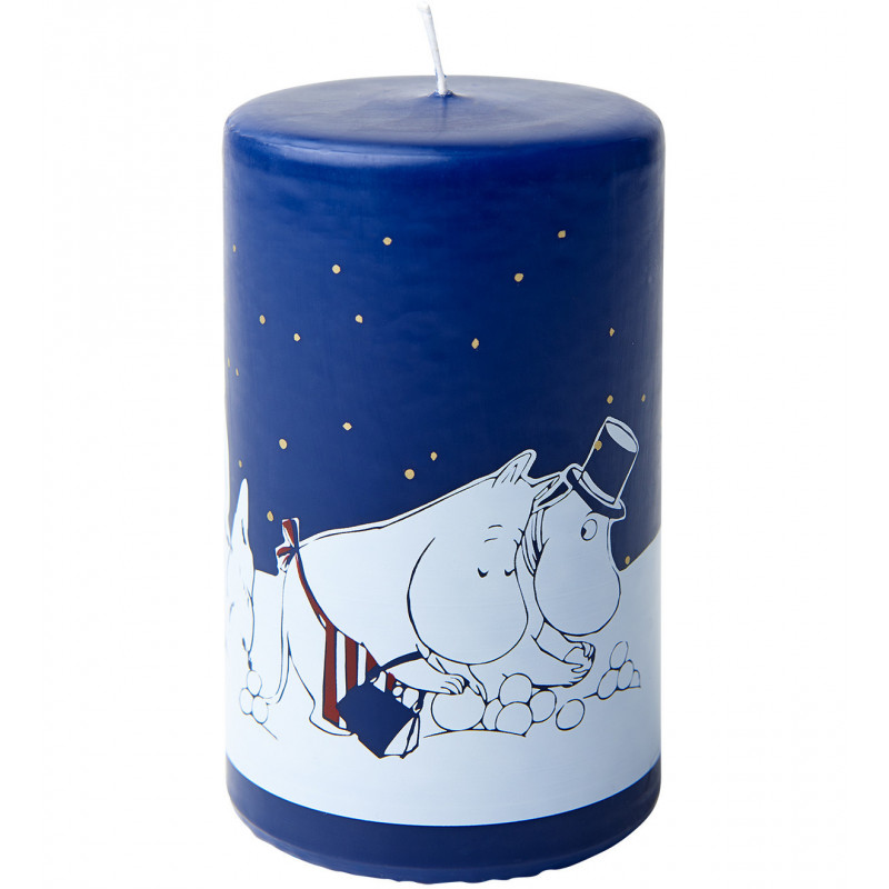 Moomin Winter Land Pillar Candle 55 h