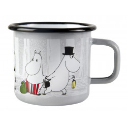 Moomin Enamel Mug Winter Trip 0.37 L
