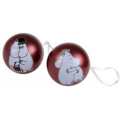 Moomin Hug Tin Bauble Set of 2