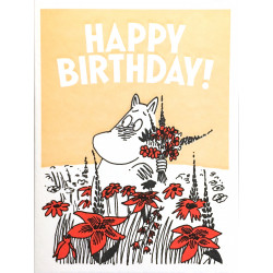Moomin Greeting Card Letterpressed Skorkmaiden Happy Birthday