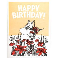 Moomin Greeting Card Letterpressed Skorkmaiden Happy Birthday
