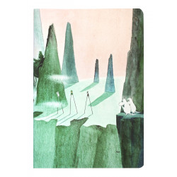 Moomin Exercise Notebook 48 Faintly Ruled/Blank Pages Comet Chase