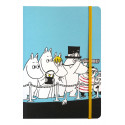 Moomin Notebook 128 Faintly Ruled/Blank Pages Family