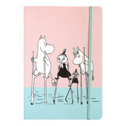 Moomin Exercise Notebook 128 Faintly Ruled/Blank Pages Comet Chase