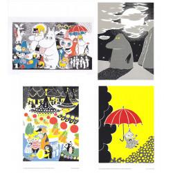 Moomin Posters 24 x 30 cm Set of 4 Putinki (Set 15)