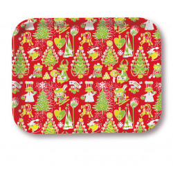 Moomin Tray Christmas Pattern 20 x 27 cm Optodesign