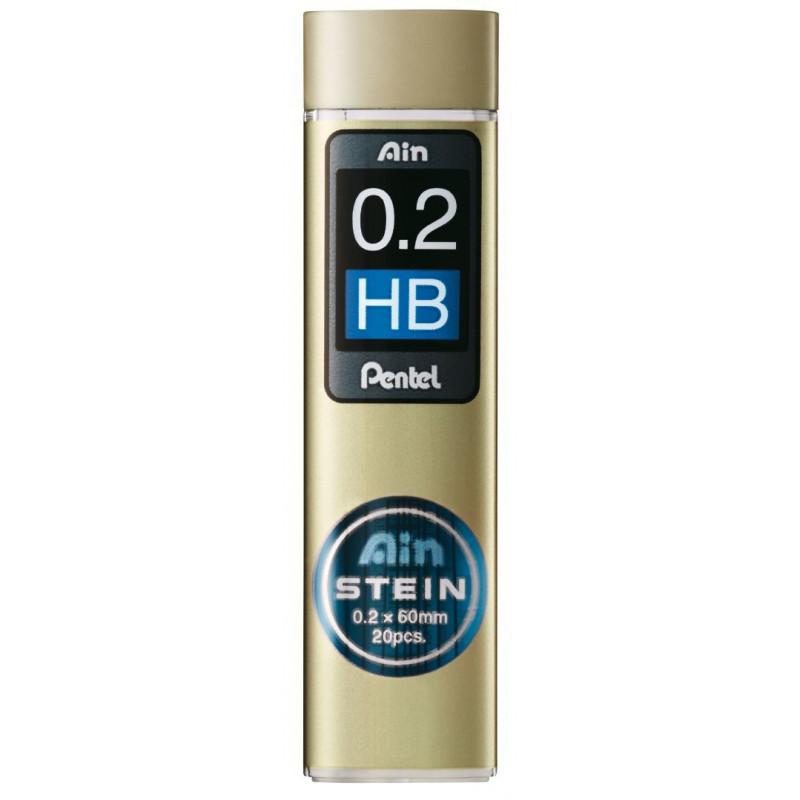Pentel AinStein 0.2 mm x 60 mm HB Pencil 20 pcs Lead Refils