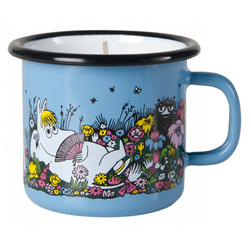 Moomin Enamel Mug With Candle Moment Together 0.25 L Muurla