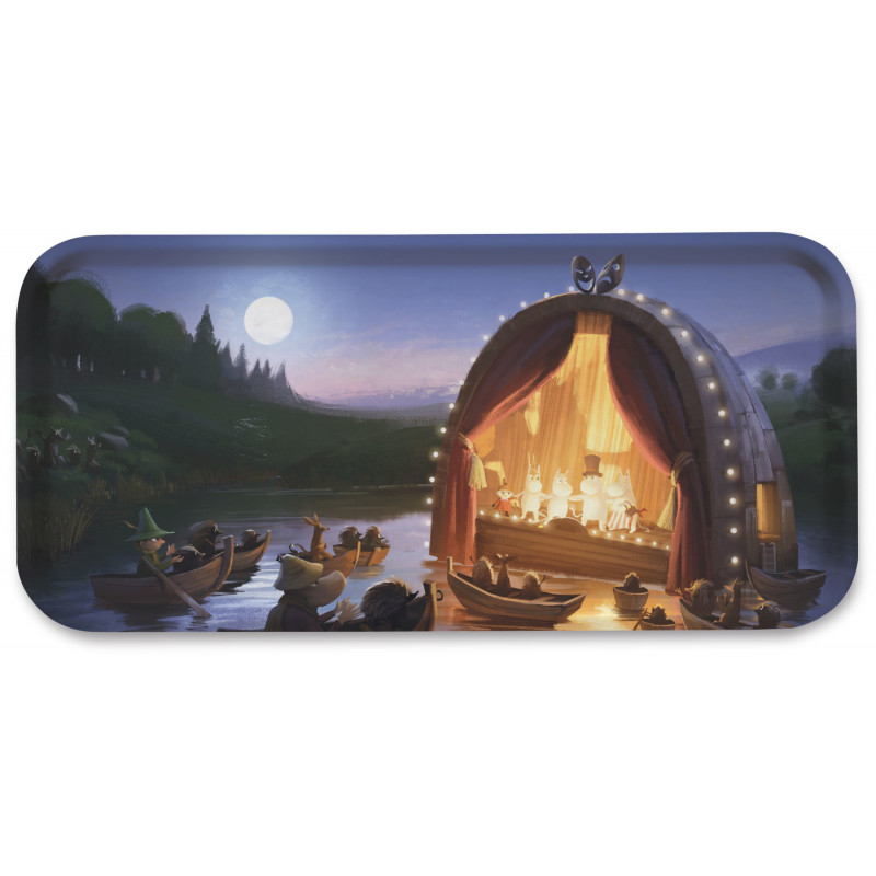 Moomin Birch Tray 32 x 15 cm Animation Moominvalley Theatre