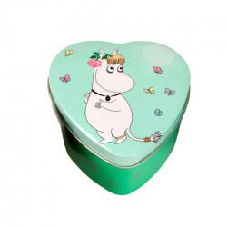 Moomin Heart Tin Box Green Snorkmaiden