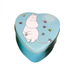 Moomin Heart Tin Box Blue Troll
