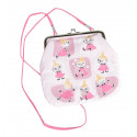 Moomin Canvas Purse with Shoulder Strap Little My Patches Pink