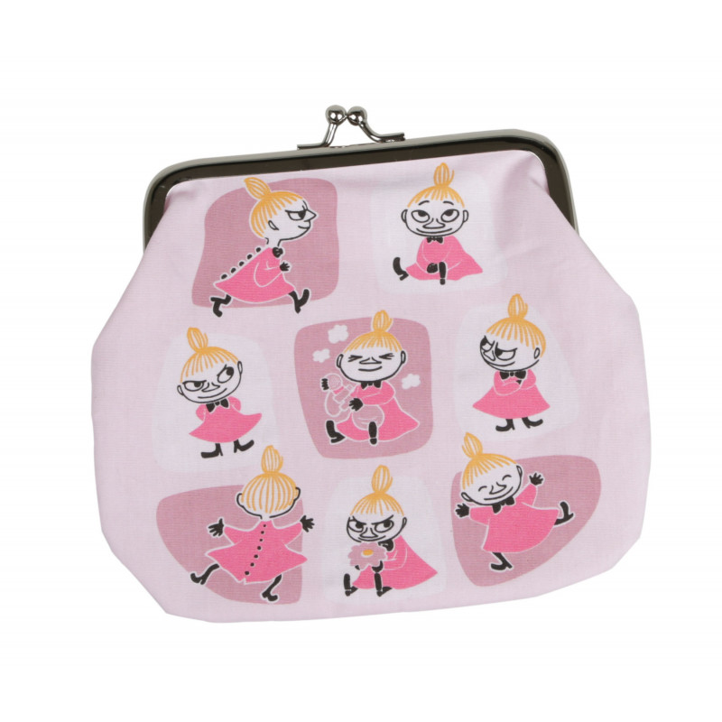Moomin Purse Medium Little My Patches Pink