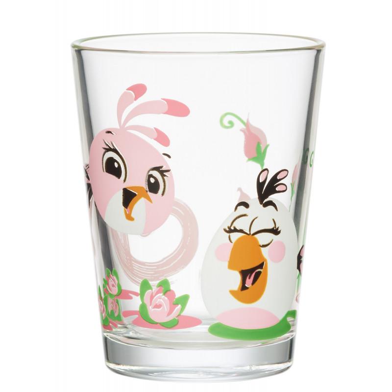 Angry Birds Glass Tumbler Stella and Matilda 0.22 L Arabia