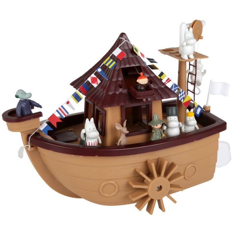 Moomin 25 Years Anniversary Boat with 9 Characters Martinex