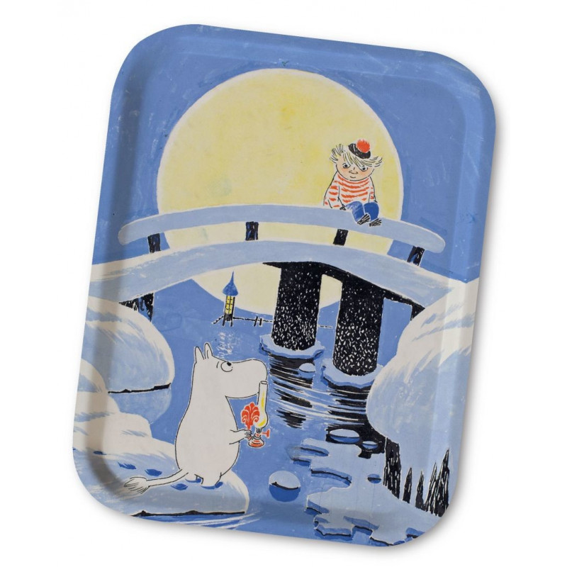 Moomin Birch Tray Tooticky Midwinter 36 x 28 cm