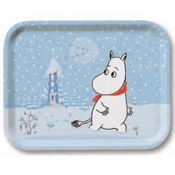 Moomin Birch Tray Moomintroll Snow 36 x 28 cm