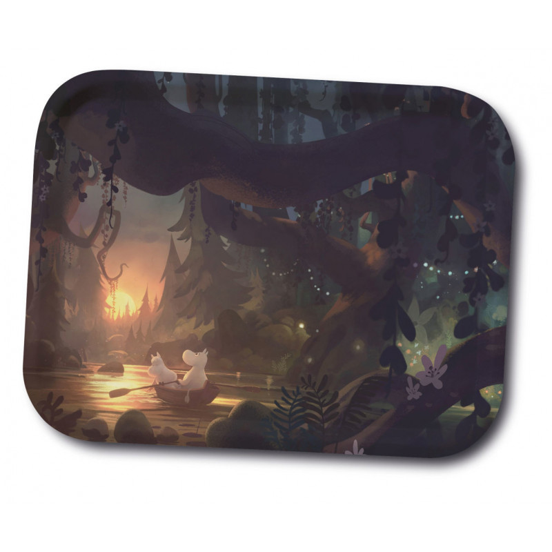 Moomin Birch Tray Animation Moominvalley Forest 27 x 20 cm
