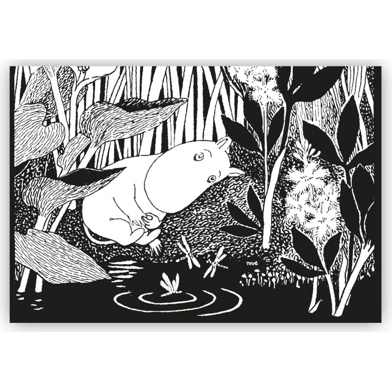 Moomin Placemat Slipping Moomintroll Black 40 x 30 cm