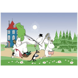 Moomin Placemat Summer Going on Holiday 40 x 30 cm