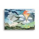 Moomin Magnet Moomin Valley 9.5 x 6.5 cm