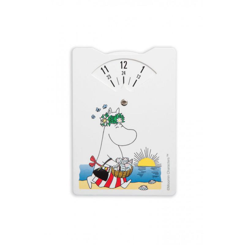 Moomin Carton Parking Disc Moominmamma Beach 10 x 15 cm